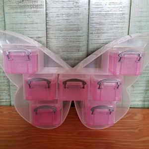 NEW SUPER CUTE TABLE TOP BUTTERFLY STORAGE STAND